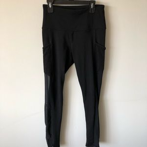 Black Leggings with Mesh and Pockets